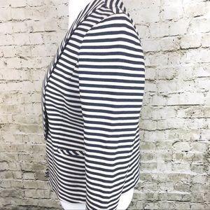 Ann Taylor Jackets & Coats - Ann Taylor Navy White Stripe Jacket Blazer 10